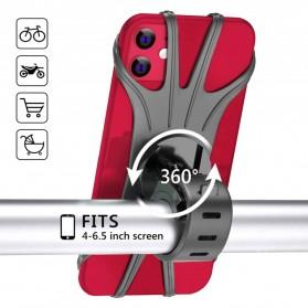 BUBM Smartphone Holder Sepeda Universal - XD063 - Black - 11