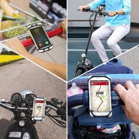 BUBM Smartphone Holder Sepeda Universal - XD201 - Black - 3