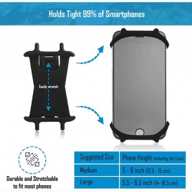 BUBM Smartphone Holder Sepeda Universal - XD201 - Black - 10