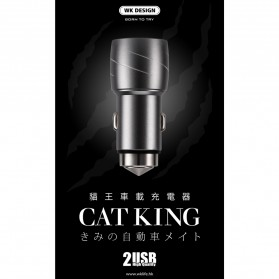 WK Cat King Charger Mobil 2 USB 2.4A - WP-C10 - Black - 6