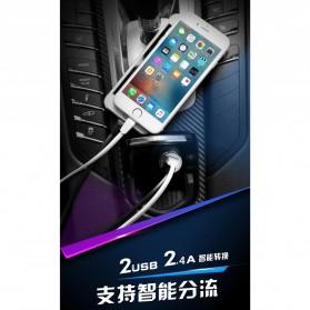WK Linken Charger Mobil 2 USB 2.4A - WP-C08 - Black - 3