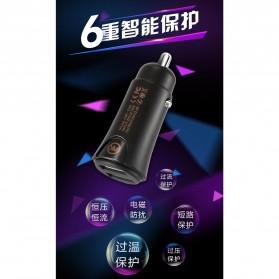 WK Linken Charger Mobil 2 USB 2.4A - WP-C08 - Black - 4