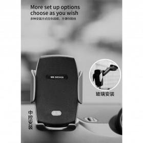 WK Car Wireless Charger Suction Dashboard Car Holder Mount - WP-U44 - Black - 4