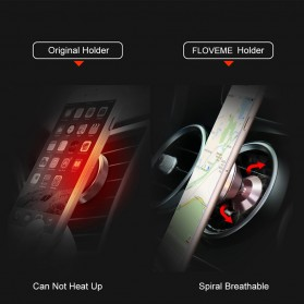Floveme 360 Rotation Magnetic Air Vent Car Holder Smartphone - B38401 - Black - 6