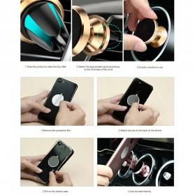 Floveme 360 Rotation Magnetic Air Vent Car Holder Smartphone - B38401 - Black - 8