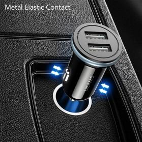 Usams C4 Smartphone Car Charger Mobil 2 Port 2.4A - US-CC050 - Black - 5