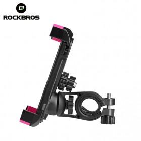 Rockbros Holder Sepeda Smartphone Rotasi 360 Derajat Model 1 - CH-01 - Black - 3