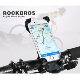 Rockbros Holder Sepeda Smartphone Rotasi 360 Derajat Model 1 - CH-01 - Black - 6