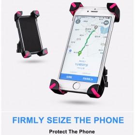Rockbros Holder Sepeda Smartphone Rotasi 360 Derajat Model 1 - CH-01 - Black - 7