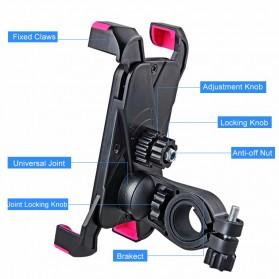Rockbros Holder Sepeda Smartphone Rotasi 360 Derajat Model 1 - CH-01 - Black - 9