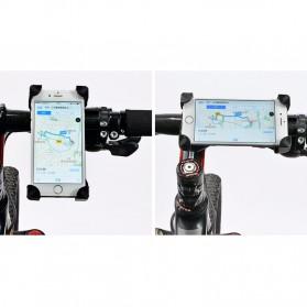 Rockbros Holder Sepeda Smartphone Rotasi 360 Derajat Model 1 - CH-01 - Black - 10
