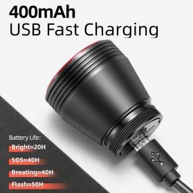 ROCKBROS Lampu Rem Belakang Sepeda LED Taillight 60 Lumens - Q5 - Black - 4