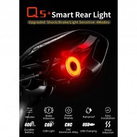 ROCKBROS Lampu Rem Belakang Sepeda LED Taillight 60 Lumens - Q5 - Black - 8