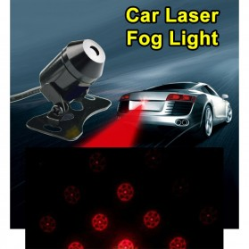 SUNKIA Car Universal Aluminium Rear Laser Fog Light Taillight - Model Bola - Black