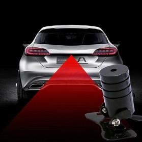 SUNKIA Car Universal Aluminium Rear Laser Fog Light Taillight - Model Bola - Black - 6