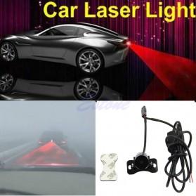 SUNKIA Car Universal Aluminium Rear Laser Fog Light Taillight - Model Bola - Black - 7