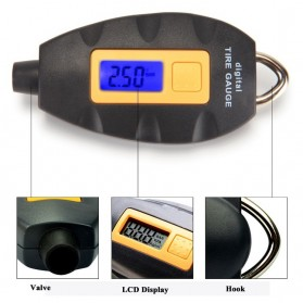 TPMS - Digital LCD Tire Pressure Monitor - WF-152 - Black