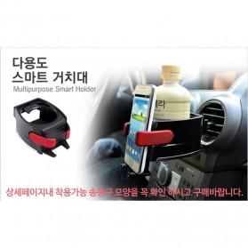 Multipurpose Bottle Car Smart Holder with Smartphone Holder - Black - 5