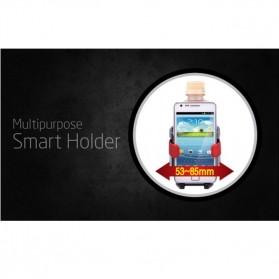 Multipurpose Bottle Car Smart Holder with Smartphone Holder - Black - 7