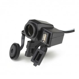 WUPP Cigarette Plug Motor Waterproof dengan 12V USB - Black