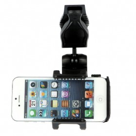 Universal Sun Visor Car Mount Holder for Smartphone4.5 - 5.5 inch - Black - 2