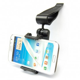 Universal Sun Visor Car Mount Holder for Smartphone4.5 - 5.5 inch - Black - 6
