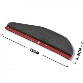 PVC Pelindung Spion Kaca Mobil 2 Pcs - BH030 - Black - 4