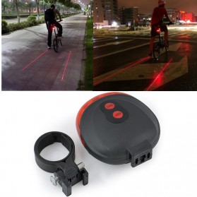 TaffLED Bicycle Laser Strobe Taillight 5 LED / Lampu LED Sepeda - SL-116 - Red