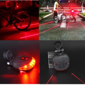 TaffLED Bicycle Laser Strobe Taillight 5 LED / Lampu LED Sepeda - SL-116 - Red - 2