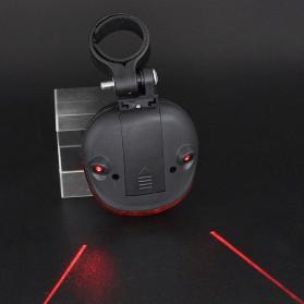 TaffLED Bicycle Laser Strobe Taillight 5 LED / Lampu LED Sepeda - SL-116 - Red - 4