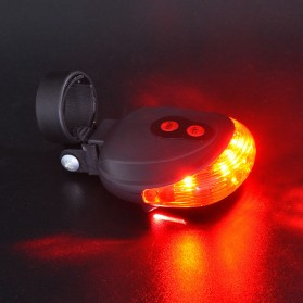 TaffLED Bicycle Laser Strobe Taillight 5 LED / Lampu LED Sepeda - SL-116 - Red - 7