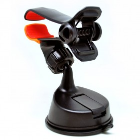 360 Rotation Car Suction Cup Smartphone Holder - Black - 2