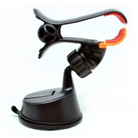 360 Rotation Car Suction Cup Smartphone Holder - Black - 3