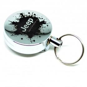 High Resilience Stretching Rope Anti Thief Key Chain / Gantungan Kunci - Model 5 - Silver