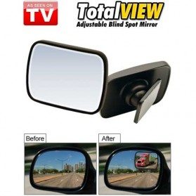 Total View Car Blind Spot Mirror / Kaca Spion Mobil - Black