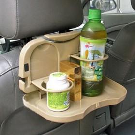 Car Multifunction Foldable Seat Back Meal Table / Meja Lipat Mobil - Brown - 2
