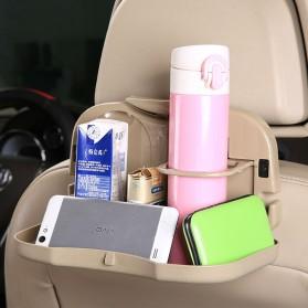 Car Multifunction Foldable Seat Back Meal Table / Meja Lipat Mobil - Brown - 3