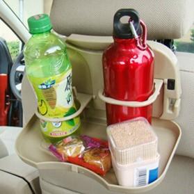 Car Multifunction Foldable Seat Back Meal Table / Meja Lipat Mobil - Brown - 4
