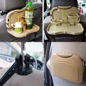 Car Multifunction Foldable Seat Back Meal Table / Meja Lipat Mobil - Brown - 5