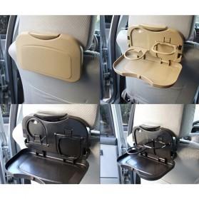 Car Multifunction Foldable Seat Back Meal Table / Meja Lipat Mobil - Brown - 6