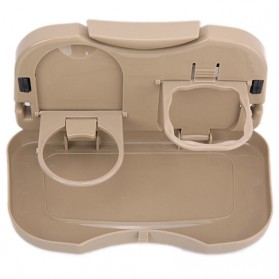 Car Multifunction Foldable Seat Back Meal Table / Meja Lipat Mobil - Brown - 7