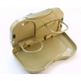 Car Multifunction Foldable Seat Back Meal Table / Meja Lipat Mobil - Brown - 8