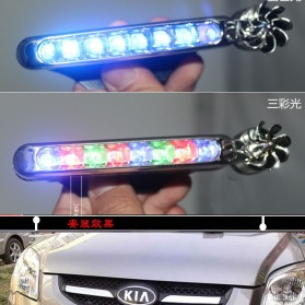 Car Light Warning No Wiring Wind Power Grille Fog LED Lamp - XY044 - Silver - 3