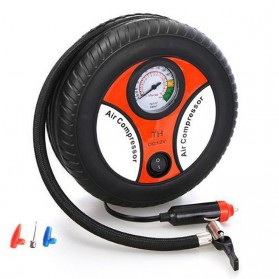 Portable Motorcycle Tire Air Compressor 12V 260 PSI - Black - 1