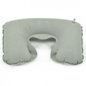 Bantal Leher Inflatable Travele Pillow Air - JJ2821 - Gray