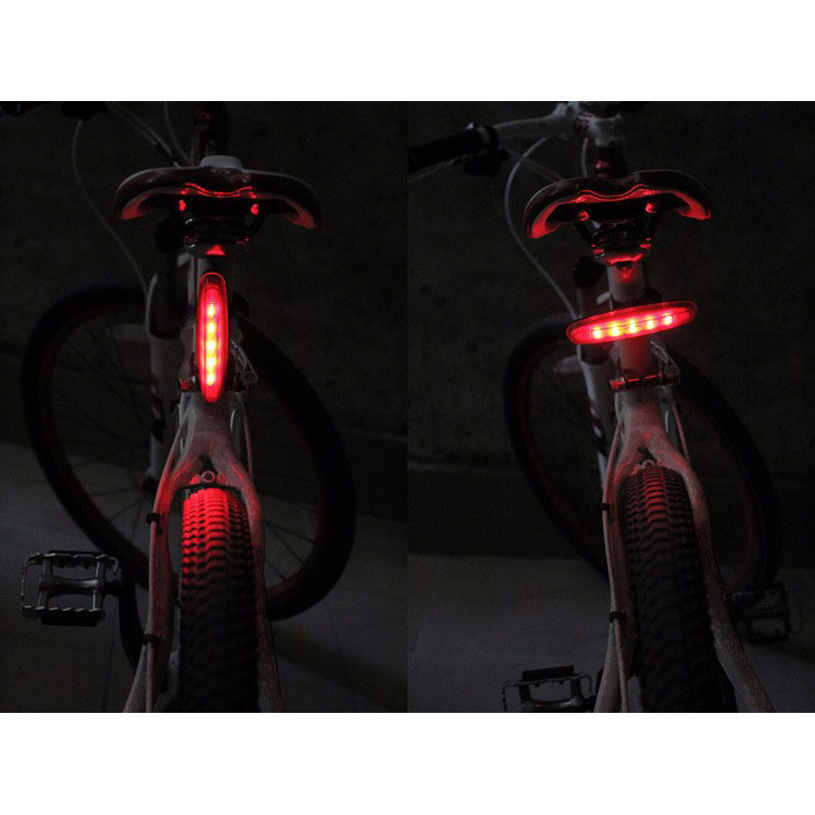 Bicycle Strip Taillight 5 LED / Lampu Sepeda - Black