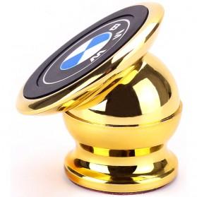 Universal 360 Degree Magnet Car Holder for Smartphone - Golden