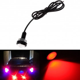 Sikeo Car Styling DIY 9W 500-Lumen Waterproof Eagle Eye LED Lamp 1 PCS / Lampu Mobil - SK101 - Red