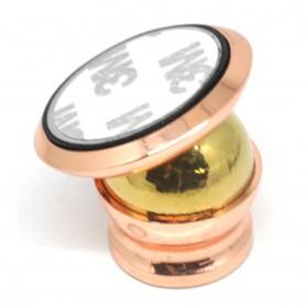 Magnetic Smartphone Car Holder Round Shape - Rose Gold