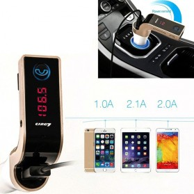 Car Charger 4 in 1 Bluetooth Handsfree FM Transmitter MP3 - G7 - Silver - 5